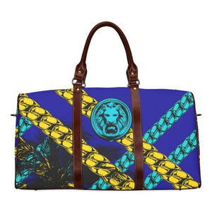 Blue Chain Luxury Street Travel Bag Medium Size-AllEthical.com - The Vegan Shop