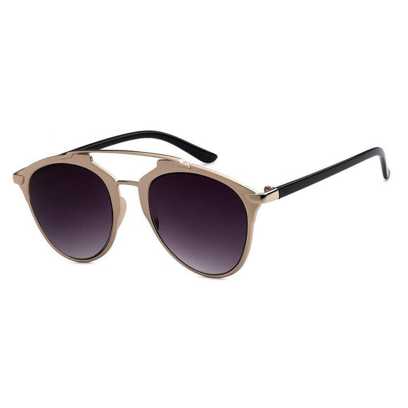 Mechaly Cat Eye Style Sunglasses with Rose Gold Frame & Black Lens-AllEthical.com - The Vegan Shop