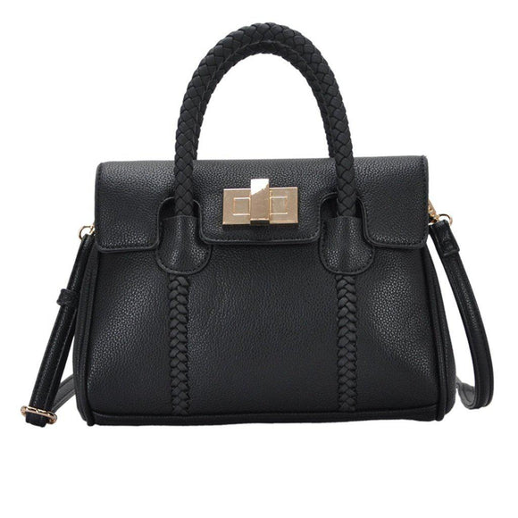 Mechaly Women's Mandy Black Vegan Leather Crossbody Handbag-AllEthical.com - The Vegan Shop