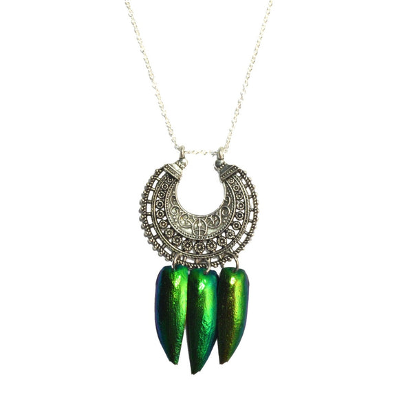 Deva Jewel Wing Tibetan Silver Necklace-AllEthical.com - The Vegan Shop
