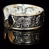 Ganapati Elephant Tibetan Silver Bracelet-AllEthical.com - The Vegan Shop