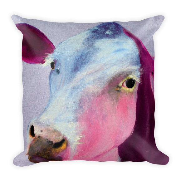 Calm Cow Square Pillow-AllEthical.com - The Vegan Shop