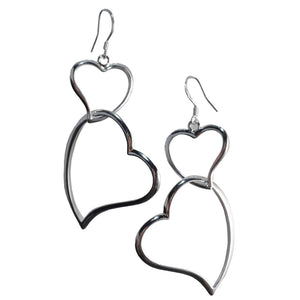 Jane Sterling Silver Heart Earrings-AllEthical.com - The Vegan Shop