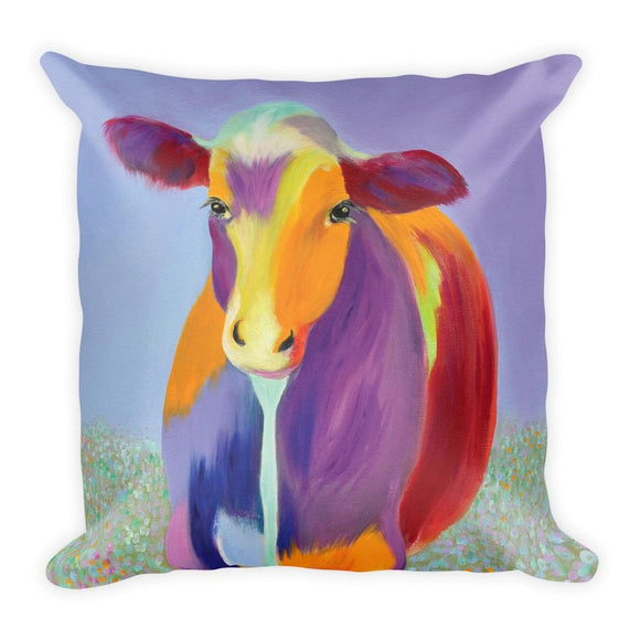 Dot Cow Square Pillow-AllEthical.com - The Vegan Shop