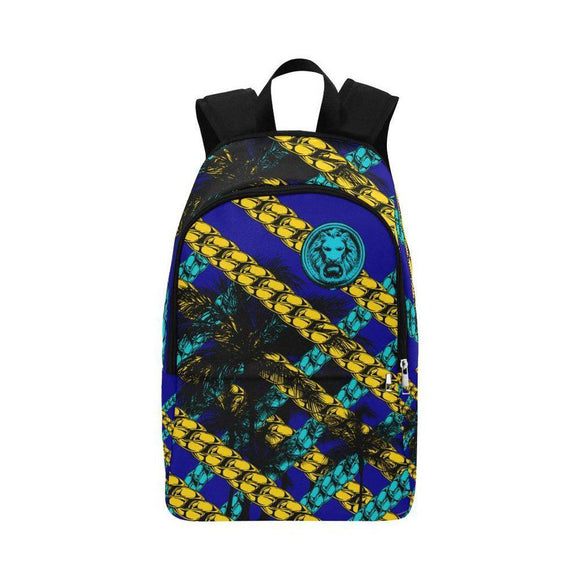 Blue Yellow Chain Adult Back Pack-AllEthical.com - The Vegan Shop