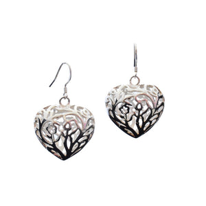 Adore Sterling Silver Heart Earrings-AllEthical.com - The Vegan Shop