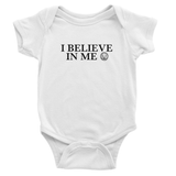 I Believe in Me Baby Bodysuit-AllEthical.com - The Vegan Shop