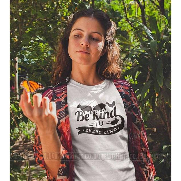 Be Kind To Every Kind T-shirt / Vegan T-shirt / Premium Quality! / Fast Delivery to the USA , Canada , Australia & Europe !-AllEthical.com - The Vegan Shop