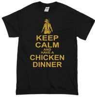 """Keep Calm Chicken Dinner"" T-Shirt"