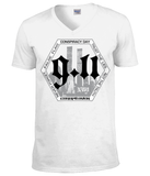 "T-Shirt Homme Col V ""Conspiracy Day 9/11"""