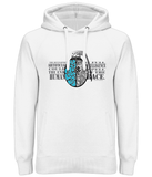 "Sweat Hoodie Unisexe ""Warning AI Grenade"" Blanc"