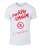 "T-shirt Homme ""Fucking System Red"""