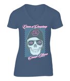 "T-Shirt Femme Col V ""Queen of Conspiracy"""