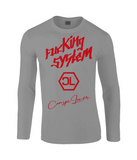 "T-Shirt Manche Longue ""Fucking System Rouge"""