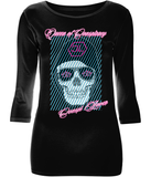 "T-Shirt Femme Manche 3/4 Stretch ""Queen of Conspiracy"""