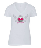 "T-Shirt Femme Col V ""Angel Conspiracy Day 9/11"""