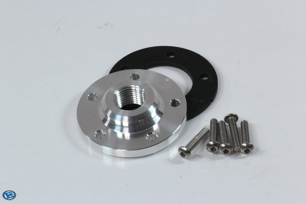"5 Bolt Sensor Flange to 1/2"" NPT Adapter"