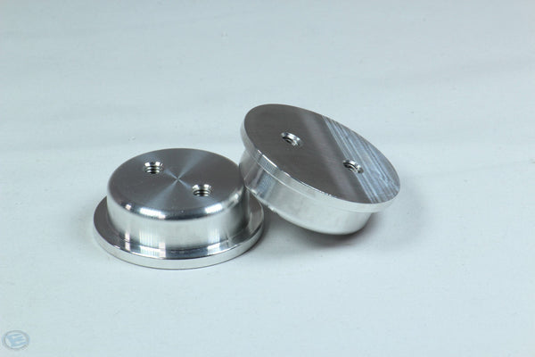 CAN CAP MACHINED ALUMINUM INSERT x2 10-32 THREADS