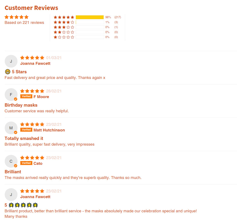 Photo Face Mask Reviews UK