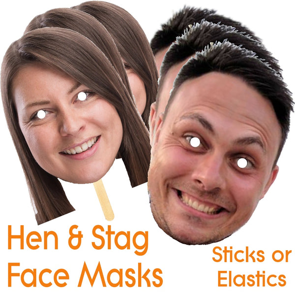 Personalised Party and Hen Do Face Masks