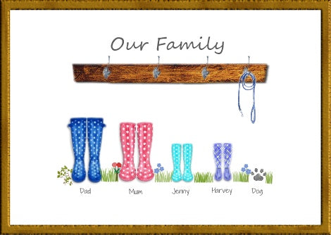 family welly boots