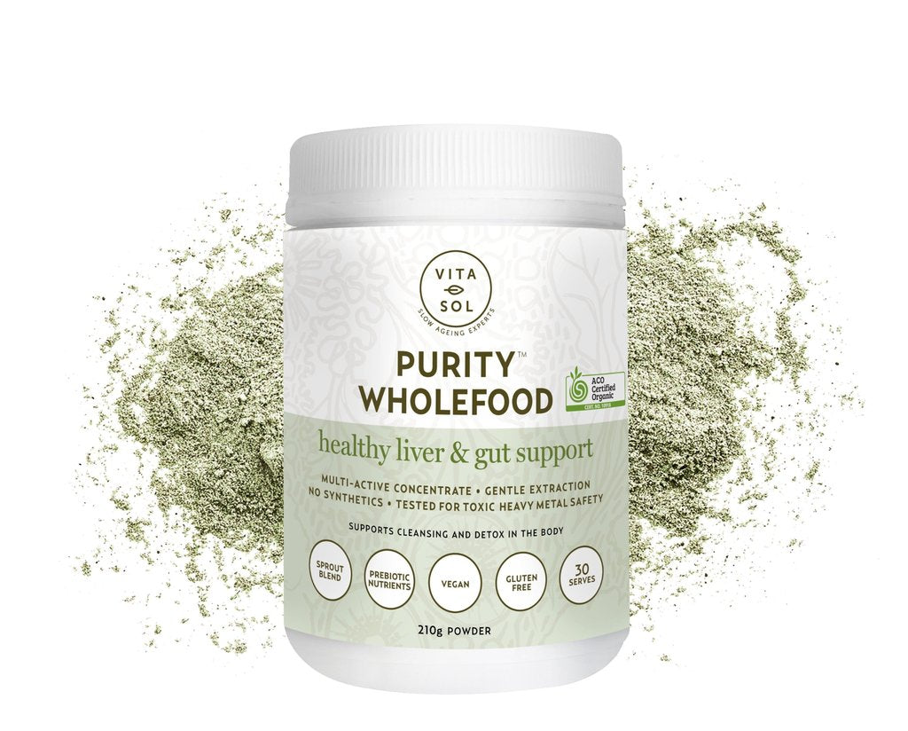 Purity - Inner beauty greens powder supplements for gut health, acne, eczema and hormonal imbalance.