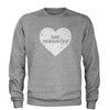 Heart Nevertheless, She Persisted  Adult Crewneck Sweatshirt