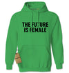 The Future Is Female (Black Print) Adult Hoodie Sweatshirt