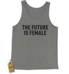 The Future Is Female (Black Print) Jersey Tank Top for Men