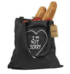 I'm Not Sorry Heart Shopping Tote Bag