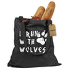 I Run With Wolves Shopping Tote Bag