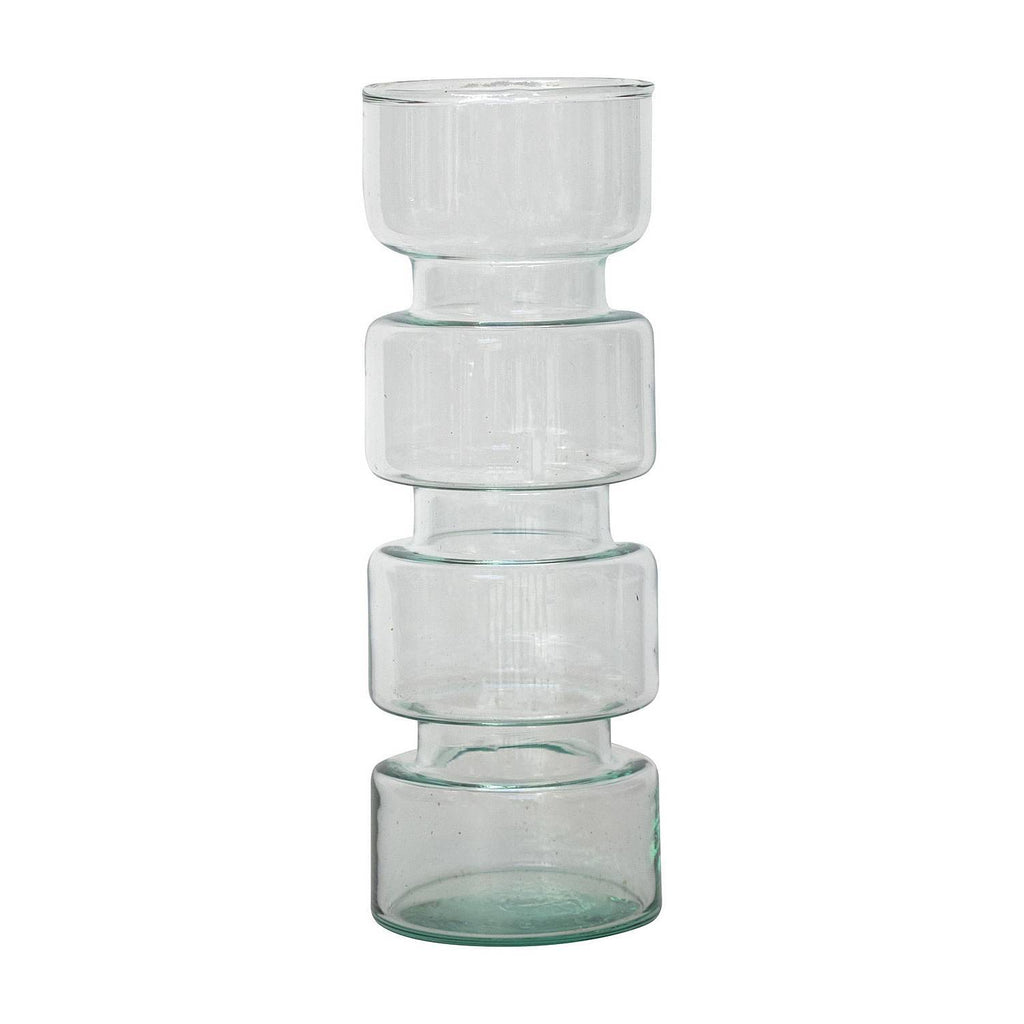Urban Nature Culture Vase aus Recyclingglas transparent - 26cm - noord®