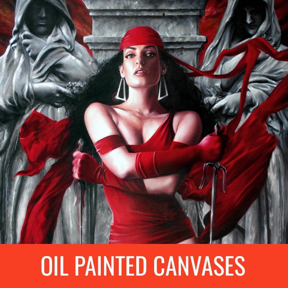Fred Ian Oil Painted Canvases