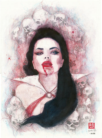 Zu Orzu Original Art Vampirella Illustration