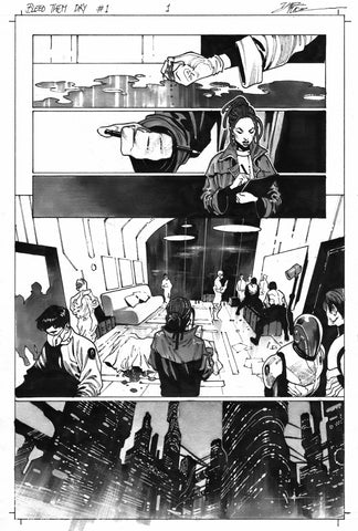 Dike Ruan Original Art Bleed Them Dry #1 Page 1