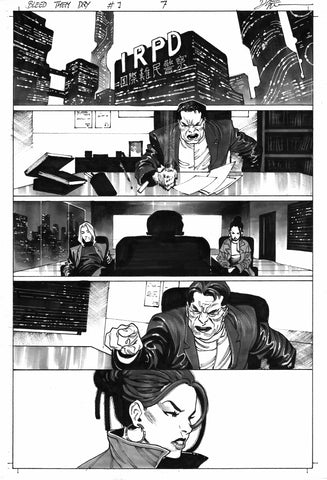 Dike Ruan Original Art Bleed Them Dry #1 Page 7