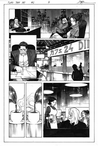 Dike Ruan Original Art Bleed Them Dry #1 Page 8