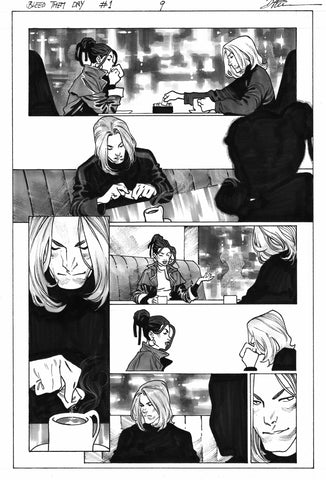 Dike Ruan Original Art Bleed Them Dry #1 Page 9