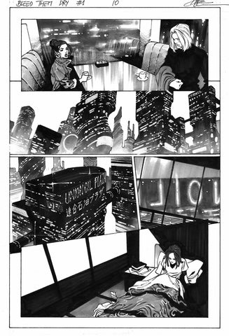 Dike Ruan Original Art Bleed Them Dry #1 Page 10
