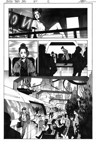 Dike Ruan Original Art Bleed Them Dry #1 Page 12