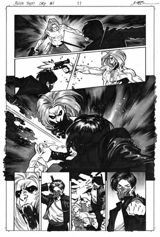 Dike Ruan Original Art Bleed Them Dry #1 Page 21