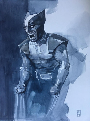 Alex Maleev Original Art Wolverine Illustration