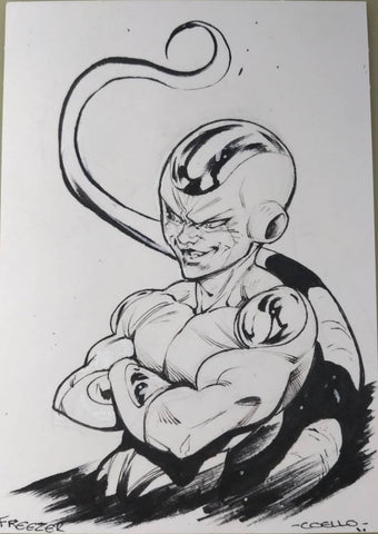 Iban Coello Original Art Dragon Ball Z Illustration 1