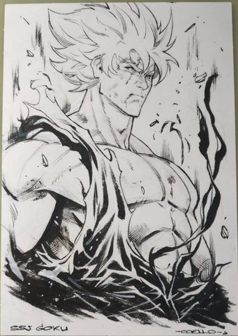 Iban Coello Original Art Dragon Ball Z Illustration 2