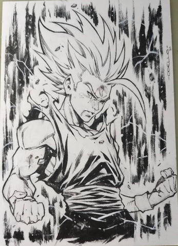 Iban Coello Original Art Dragon Ball Z Illustration 4