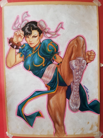 Emilio Laiso Original Art Chun-Li Illustration