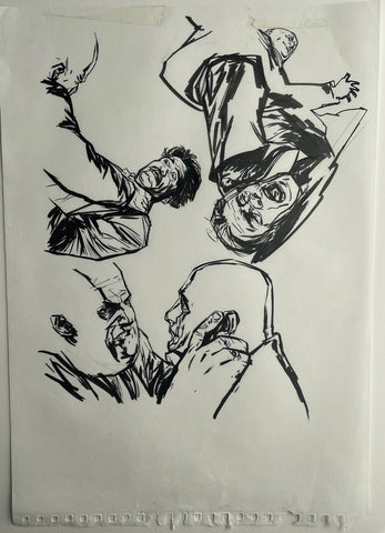Alex Maleev Original Art Page From Bendis & Maleev's Daredevil Run (Reference 11)