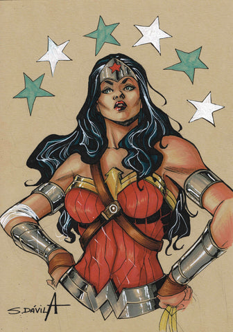 Sergio Davila Original Art Wonder Woman Illustration