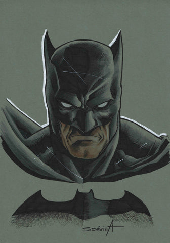 Sergio Davila Original Art Batman Illustration