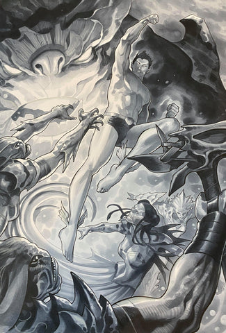 Paul Renaud Original Art Namor #3 Cover